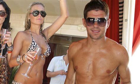 Alex Gerrard gives footballing husband Steven a run for