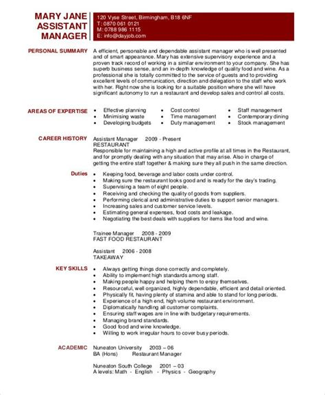 manager resume sample template   word