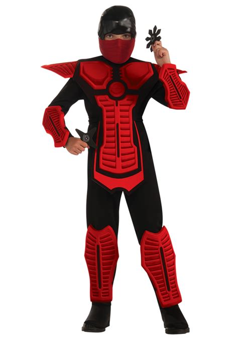 Outdoor Halloween Decorations Uk by Child Red Ninja Costume
