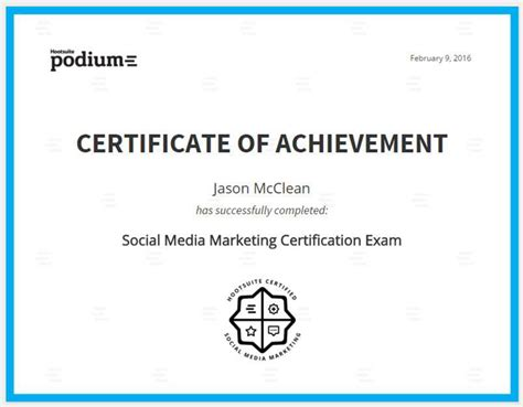 social media marketing certification free hootsuite social media marketing certification