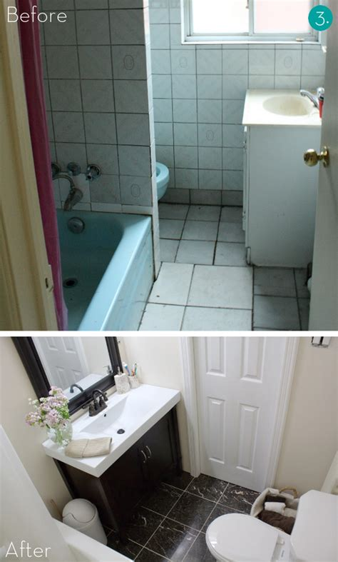 How To Makeover A Small Bathroom Eye 10 Big Impact Small Bath Makeovers Kitchen