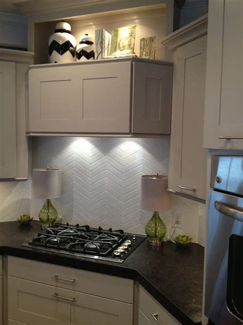 subway tile chevron pattern kitchen kitchen tiles
