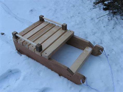 Wood Sled Deck Plans by Build Sledge