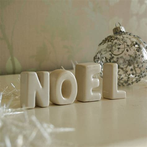 noel ceramic christmas decorations by the gift studio