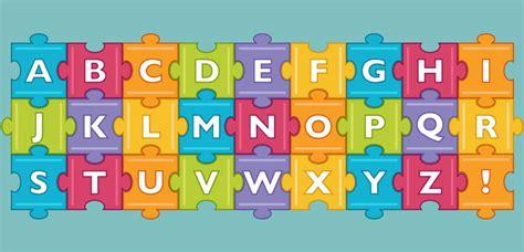 colourful jigsaw alphabet paperzip