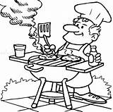 Grill Template Coloring sketch template