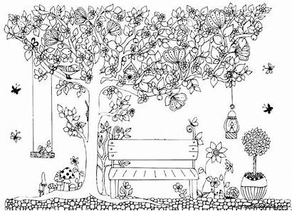 Garden Coloring Pages Clip Printable Adults