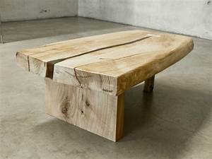 Table Basse Bois Brut : table basse bois brut table basse bois brut acier roulette ~ Melissatoandfro.com Idées de Décoration