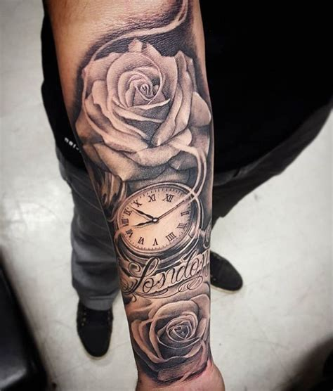 tattoo arm men tatoos arm mens arm tattoo tattoo clock rose arm tattoo