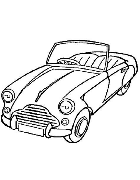 da colo disegno di macchina cabrio da colorare per bambini