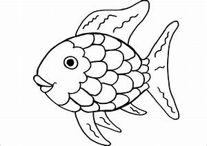 rainbow fish coloring page template coloring page kids With rainbow fish colouring template