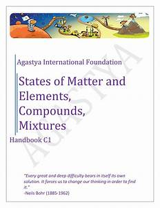 Handbook C1 States Of Matter And Elements  Compounds  And