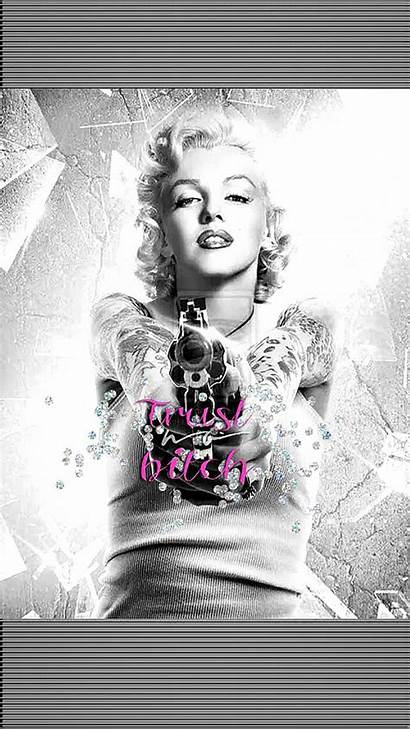 Monroe Marilyn Wallpapers Marylin Tattoo Iphone Portrait