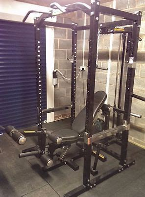 home gym  powertec workbench power rack cage bench