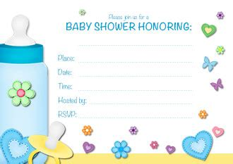 printable baby shower invitations  boys www