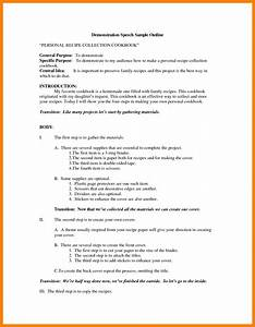 demonstrative speech outline sample bamboodownundercom With demonstration speech outline template