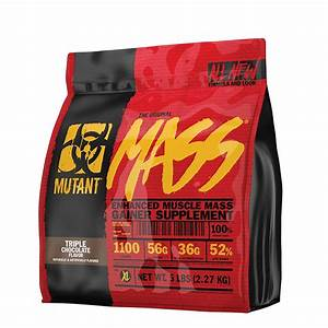 Mutant Mass Weight Gainer Protein Powder High Calorie 5 Lbs Triple Chocolate 811662020059