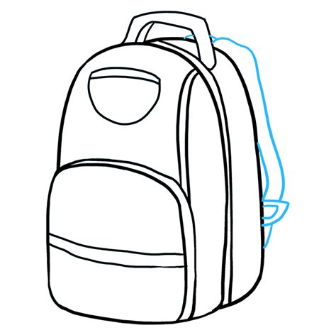 draw  backpack  easy drawing tutorial