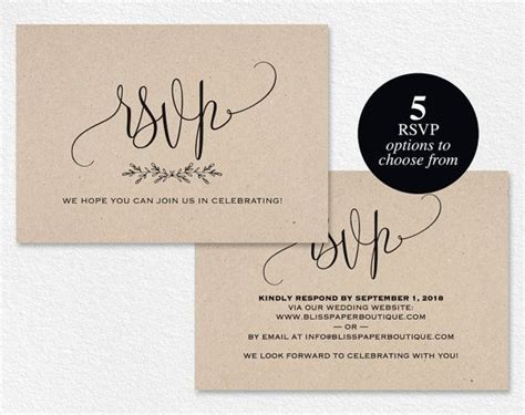 rsvp postcard rsvp template wedding rsvp