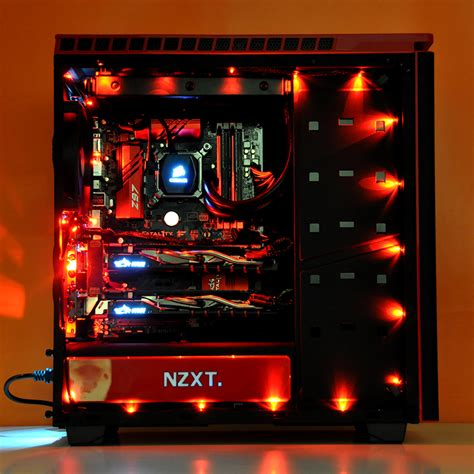 pc case lighting guide intel ultimate custom gaming pc in nzxt h440 evatech news
