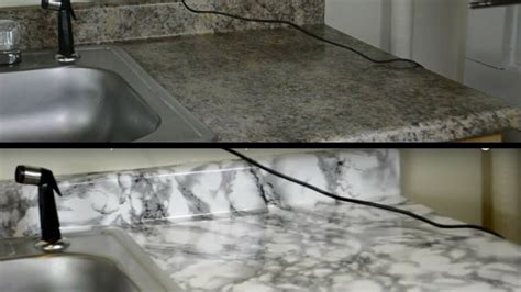Contact Paper For Kitchen Countertops by Diy Kitchen Countertop Makeover With Contact Paper Hd