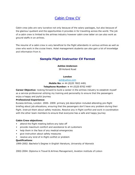 solutions air canada flight attendant sample resume
