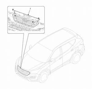 Hyundai Santa Fe  Radiator Grill  Components And