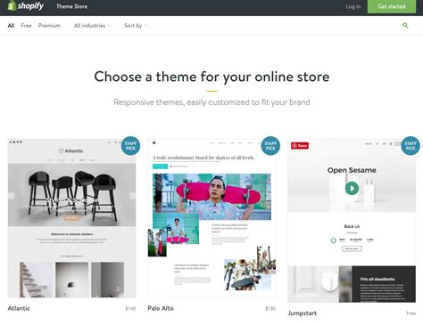 shopify website templates our top 5 resources for the best shopify templates october ink