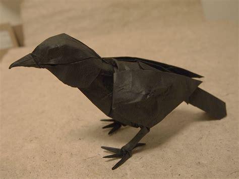 crow origami animals paper art bird sculpture