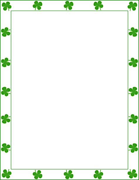 Free St Patricks Day Wallpaper 850x1100px Shamrock Wallpaper Borders Wallpapersafari