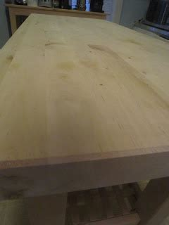 Chuck Does Art Diy Finishing A Butcher Block With Mineral Oil