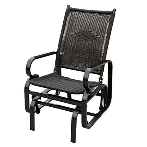 naturefun outdoor patio rocker chair balcony glider