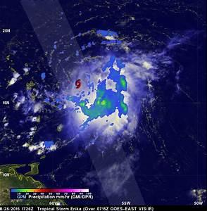 Tropical Storm Erika Enters the Caribbean | Precipitation ...
