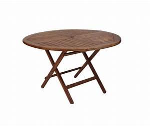 Table Ronde Exterieure : location table ronde en teck par souchon r ception ~ Teatrodelosmanantiales.com Idées de Décoration