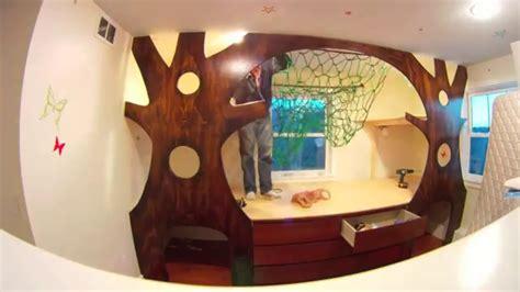 diy kids bedroom makeover   budget treehouse   hammock youtube