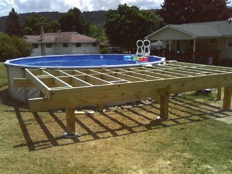 above ground pool deck framing agp deck question 17 9 wide deck frame but 16 decking