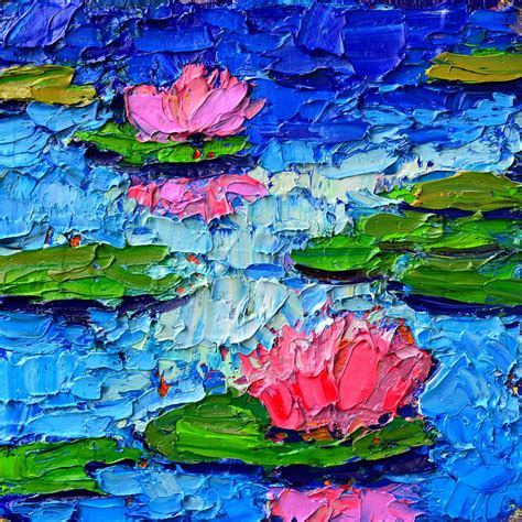 pond impression 7 painting by edulescu