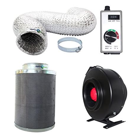 small carbon filter fan combo hydroplanet 8 inch inline fan carbon air filter and 25