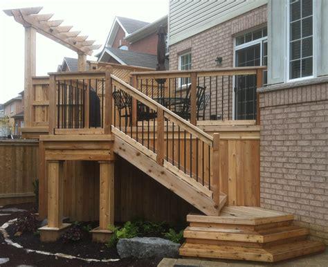 wood decks wood decks with walls