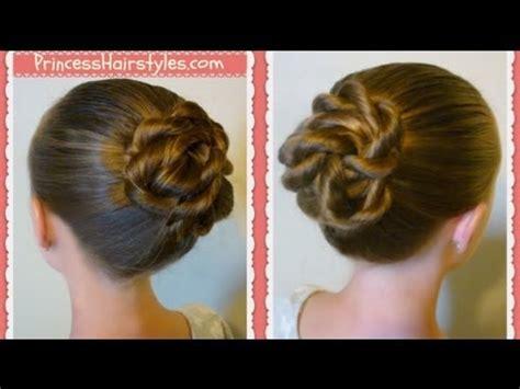 twisted knot bun   school hairstyles  long hair medium hair youtube