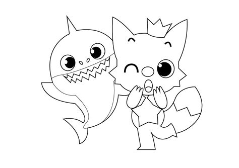 Best Baby Shark Pages Coloring Pages Otvod