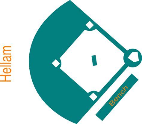 Baseball Field Clipart Baseball Field Blue Clip At Clker Vector Clip