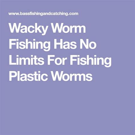 worms fishing wacky worm