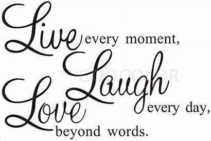Laugh Quotes Wall Decal Clip Decor Sticker