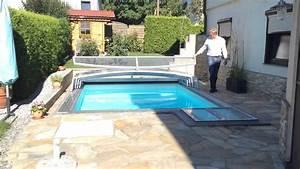 pool uberdachung fur kleinen garten youtube With whirlpool garten mit tropfkante für balkon
