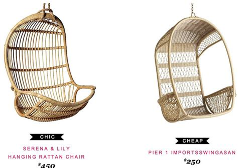 pier one rattan chair cushions serena hanging rattan chair 450 vs pier 1 imports