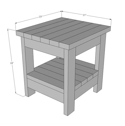 ana white tryde  table  shelf updated pocket hole plans diy projects