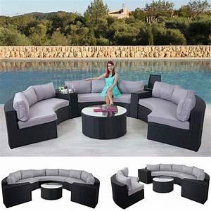 Lounge Garnitur Terrasse : rattan lounge rund ~ Markanthonyermac.com Haus und Dekorationen