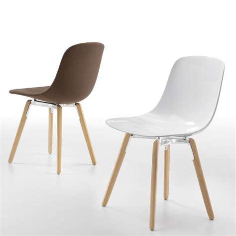 chaise sans pied chaise design en plexi pieds bois loop wooden