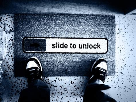 Slide To Unlock Doormat by 10 Doormats